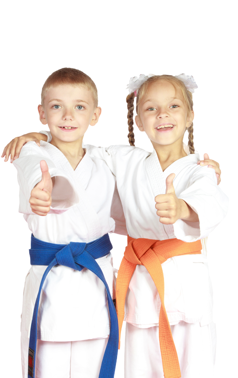 two young karate students